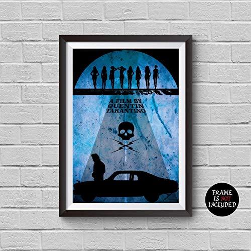 Death Proof Minimalist Poster A Quentin Tarantino Alternative Movie Print Kurt Russell Stuntman Mike inspired Cult Film Illustration Home Decor Artwork Wall Art Hanging Gift Idea