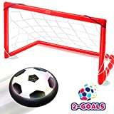 air ball toy - Toyk Kids Toys - LED Hover Ball Set 2 Goals Mini Screwdriver - Air Power Training Ball Playing Football Game - Soccer Toys for 1 2 3 4 5 6 7 8 9 10 11 12 Year Old Boys Girls Best Gift