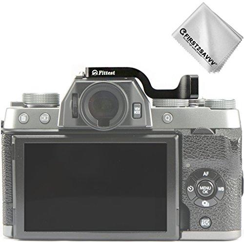 First2savvv DSLR Digital Camera Thumb Grip for Fuji Fujifilm X-T100 XT100 with a cleaning cloth LLX-XT100-ZB-01- by first2savvv