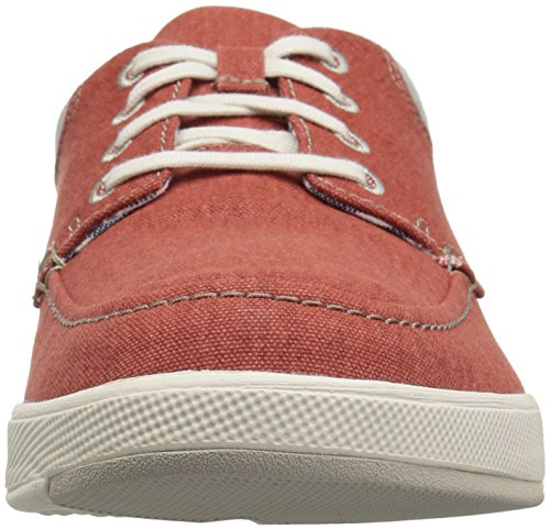 CLARKS Mens Step Isle Lace Sneaker, Rust Canvas, 7.5 Medium US
