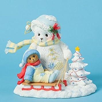 Cherished Teddies Snowbear and Bear on Sled Winter Christmas Figurine