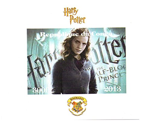 Harry Potter collectible stamps - Hermione Granger Imperforate miniature stamp sheet - (Imperforated Sheet)