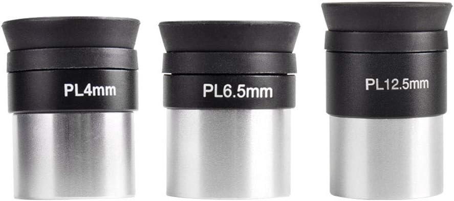 6.5mm 12.5mm Plossl Telescope Accessories Set for Astronomical Telescopes Moutec Telescope Eyepiece 4mm