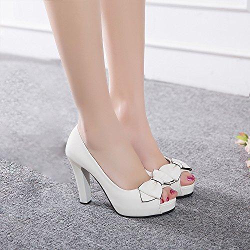 Coolcept Zapatos de Tacon Alto Para Mujer White-1