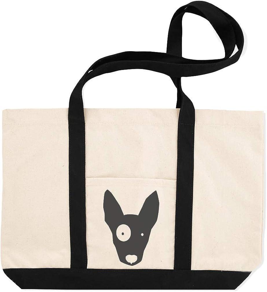 Canvas Shopping Tote Bag Bull Terrier Animal Image Pets Dogs Bull Terrier Animal Beach for Women