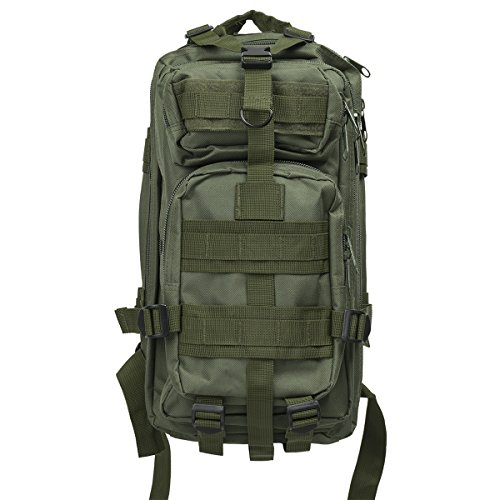 30L Outdoor Tactical Backpack Waterproof Military Rucksacks Camping Hiking Traveling Assault Pack (Green)