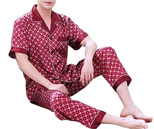 Stlie Fondo Unique Due Loungewear Lunga Balneazione Seta 1 Manica Uomo Pezzi Pigiama Top Homewear Set Pigiameria xOq0xPXv