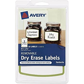 Amazon.com : Avery Removable Avery Dry Erase Labels, 1.25
