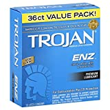 Trojan Condom ENZ Lubricated, 36 Count
