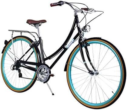 Zycle Fix Civic Women - Black Skies- Women City Series 7 Speed Urban Commuter Bike