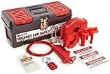 Brady Personal Valve Lockout Kit, Includes 3 Steel Padlocks