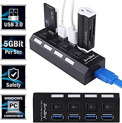 Linkstyle 5 Port USB HUB for PS4 Pro Only USB 3.0//2.0 High Speed Charger Controller Splitter Expander for Playstation 4 Pro