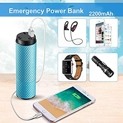 Portable Battery Mini Fan,USB Small Hand Held Fans,2200mAh Rechargeable Battery,8-12h Work Time Travel//Shopping//Football Cooling Fan for Women Lake Blue