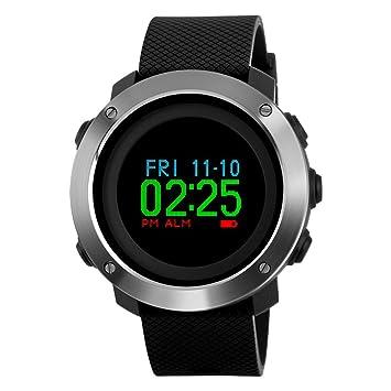 JIHUIA Hombres/Mujer Digital Deportes Reloj, 50 m Impermeable Al Aire Libre Sur Aguja