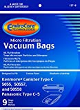 Envirocare Kenmore Mircrofiltration Canister Vacuum Bags, 9 Pack
