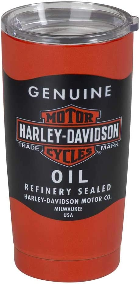Harley-Davidson Oil Can Stainless Steel Insulated Travel Mug
