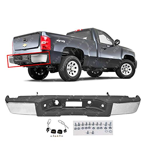 BUMPERS THAT DELIVER - Chrome Steel, Rear Step Bumper Assembly for 2007-2013 Chevy Silverado & GMC Sierra 1500 07-13, GM1103147