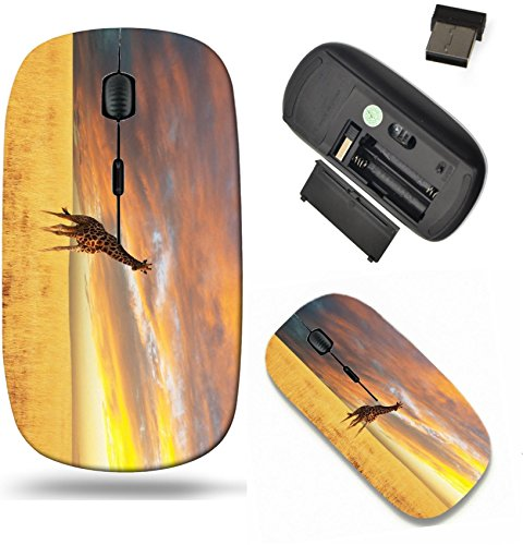 Liili Wireless Mouse Travel 2.4G Wireless Mice with USB Receiver, Click with 1000 DPI for notebook, pc, laptop, computer, mac book giraffe in savannah IMAGE ID 8475377
