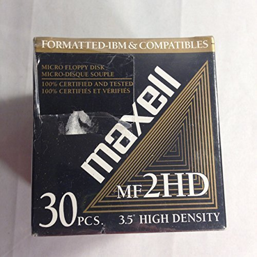 Maxell MF2HD 3.5'' High Density Floppy Disks-30 Pack by Maxell
