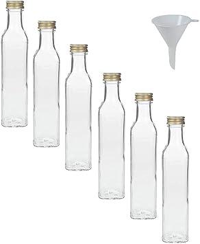 Flasche mit Schraubverschluss Flasche zum Abfüllen Glasflasche Flasche