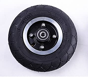 Neumático eléctrico de la vespa de los 200MM con el neumático neumático de la rueda de la aleación de aluminio del vehículo eléctrico de la inflación del neumático de la vespa 8