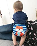 AlVABABY Charcoal Bamboo Inserts with Gussets Cloth Diaper Liner 5-Layer,Reusable Liners for Baby Cloth Diapers 6PCS 6FLN