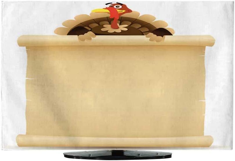 Cubierta para TV, diseño de Pavo de Acción de Gracias, pergamino, menú65: Amazon.es: Electrónica