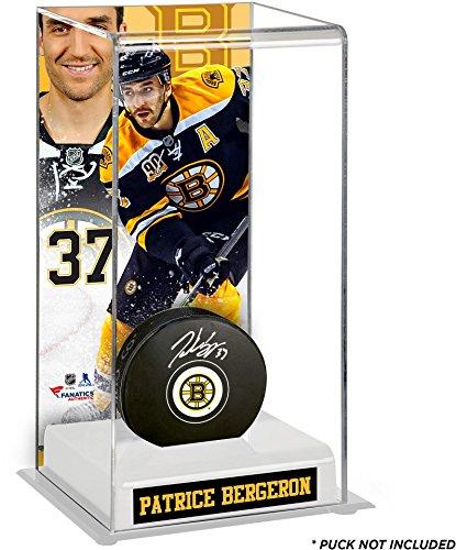 Sports Memorabilia Patrice Bergeron Boston Bruins Deluxe Tall Hockey Puck Case - Hockey Puck Display Cases No Logo ()