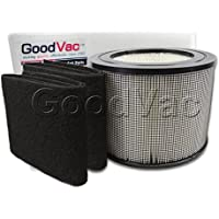 Filter Queen Defender 4000 HEPA Replacement Filter + 2 Carbon Prefilter Wraps made by GoodVac