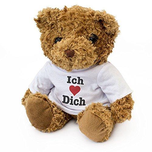 New - ICH Liebe Dich - Teddy Bear - Cute Soft Cuddly - Gift Present Birthday Valentine