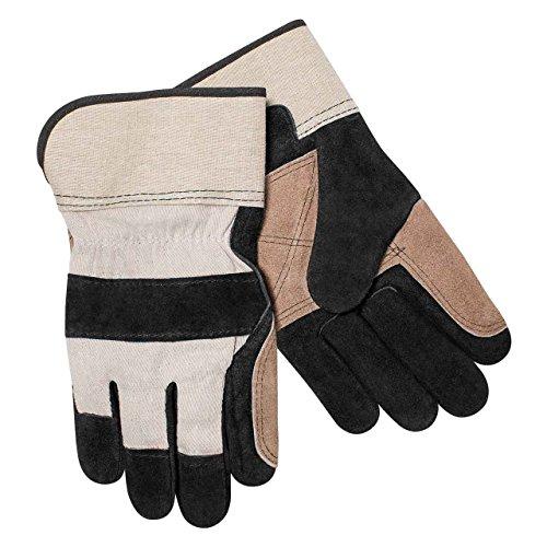 Steiner 021DP Select Shoulder Split Cowhide Double Leather Palm Work Gloves, Short Cuff, -