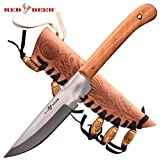 Red Deer Patch Knife (Olive Wood) Large Size Review