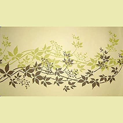 Virginia Creeper Stripe border stencil - Reusable stencil for wall ...