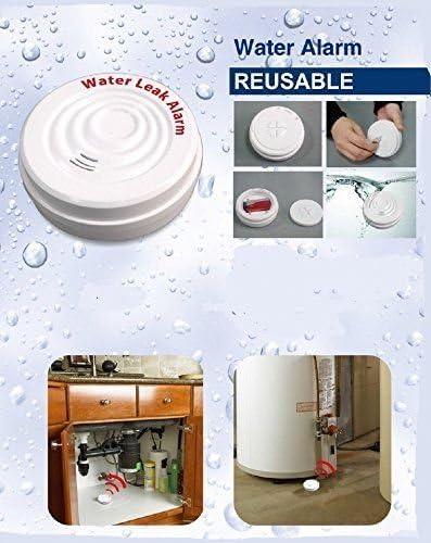 D/étecteur de fuite deau anti-inondation avec alarme et sir/ène 100/dB sur pile
