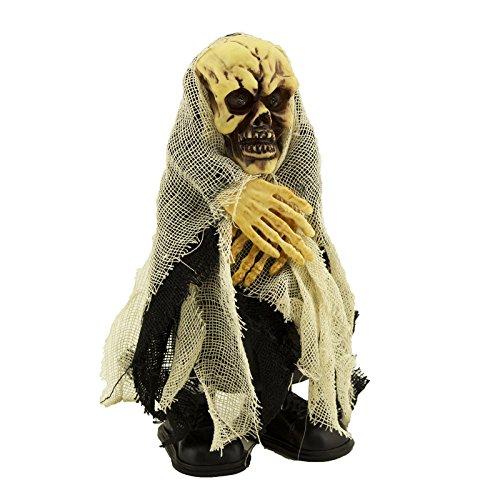 Tytroy Skeleton Halloween Talking and Walking- light up animated figure decoration