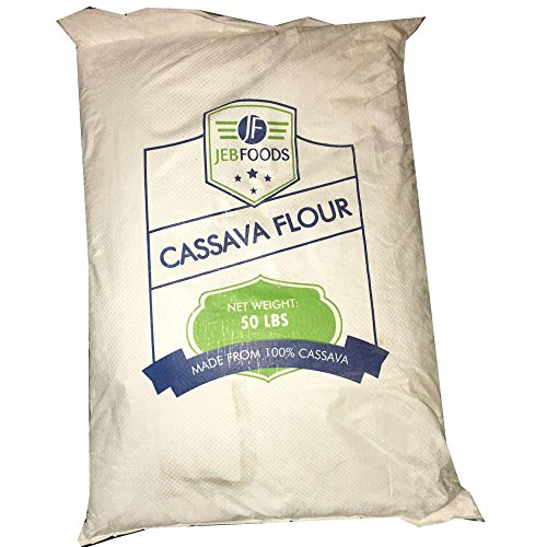 JEB FOODS Cassava flour 50 lbs Bag- No Grittiness, No Smell (Manioc or Yuca Flour) nut- free, grain-free, gluten-free baking, non-gmo, 100% Naturally Grown (50LBS) by JEB FOODS (Image #2)