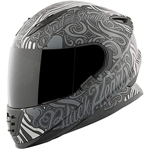 Speed and Strength SS1310 Black Heart Adult Street Motorcycle Helmet - Black/Large