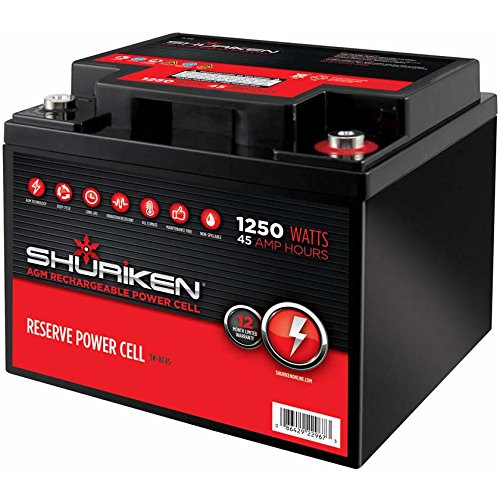 Shuriken SK-BT45 12-Volt High Performance AGM Power Cell Battery for Systems Up To 1250-Watts, by Shuriken