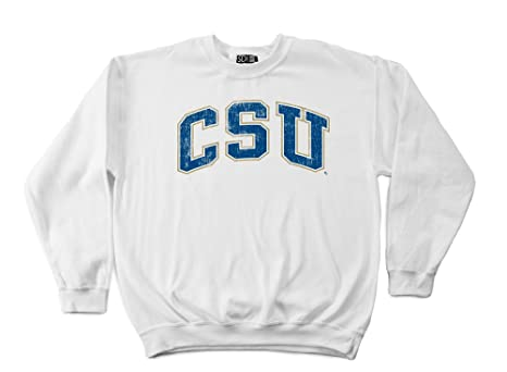 NCAA Charleston Southern Buccaneers 50//50 Blended 8-Ounce Vintage Arch Crewneck Sweatshirt