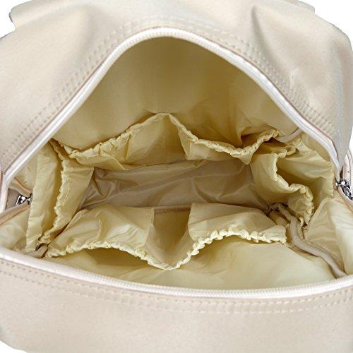 Yodo versátiles de bolsa de pañales de en los cambios de la mochila de y correa para el hombro y funda para ordenador portátil de saco de dormir con su bebé, de múltiples conexiones de beige beige beige