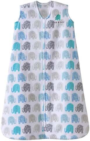 Halo Sleepsack, Micro-fleece, Elephant Texture, Gray, Large