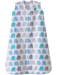 Halo Sleepsack, Micro-fleece, Elephant Texture, Gray, Medium