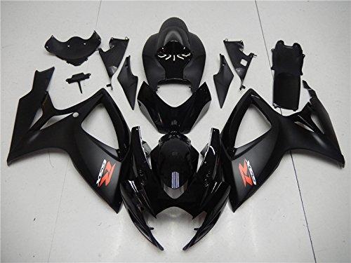 For Suzuki 2006 2007 GSXR600 gsx-r 750 Glossy Matte Black Injection Plastic Set