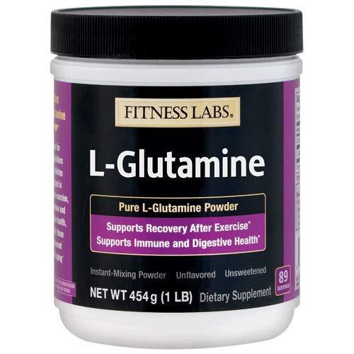 Fitness Labs L-Glutamine Powder, 89 Servings, 1 pound (454 (Best Bpi L-glutamines)