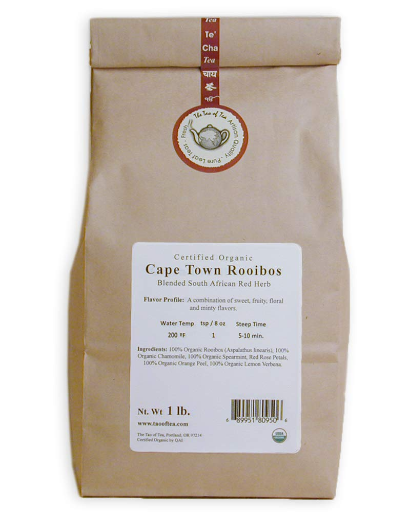 The Tao of Tea Cape Town Rooibos, Certified Organic Blended African Red Herb, 1-Pound by The Tao of Tea