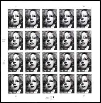 Greta Garbo, Full Sheet of 20 x 37-Cent Postage Stamps, USA 2005, Scott (2005 Postage Stamps)