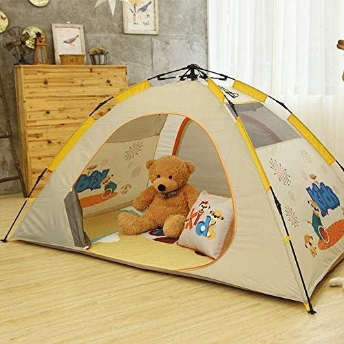 miwaimao Teepee Tent Buiten Tarpaulin Camping Tents,Enkelvoudig verhaal indoor en outdoor automatische kindertent voor kinderen mobiele kasteeltent