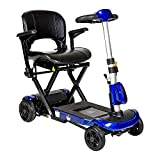 Drive ZooMe Auto-Flex Folding Travel Scooter, Blue & Free Front Zip Pocket Medical Utility Black Bag! - #Flex-AUTO