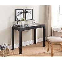 Kings Brand Furniture Black Finish Wood Single Drawer Parsons Desk