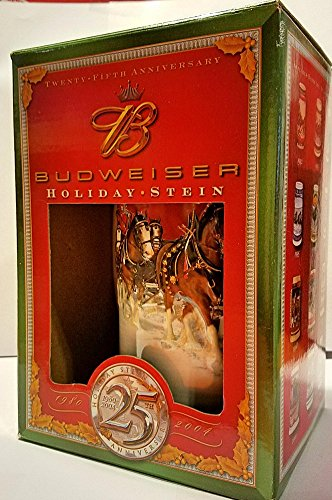 Budweiser 25th Anniversary Holiday Stein